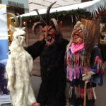 Yule Goat, Krampus, and Perchte. Photo by goodiesfirst.