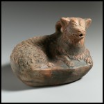 Terracotta askos in the form of a dog (Met)