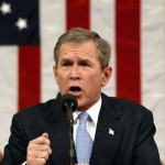 US President George W. Bush delivers his State of