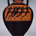 Stadion runners, Panathenaic amphora, ca. 530 BC, Attributed to the Euphiletos Painter