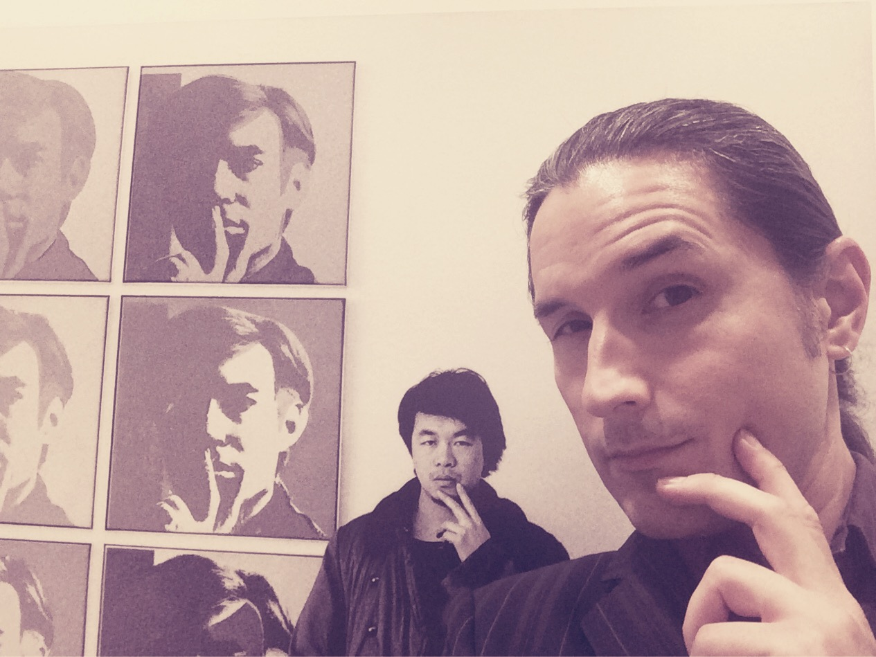 Andy, Ai Weiwei, and Lucas at Andy Warhol Museum filter