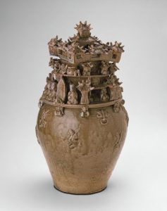 Funerary Urn (Hunping), China, Western Jin dynasty, late 3rd century, Art Institute of Chicago, 1987.242. http://www.artic.edu/aic/collections/artwork/70003