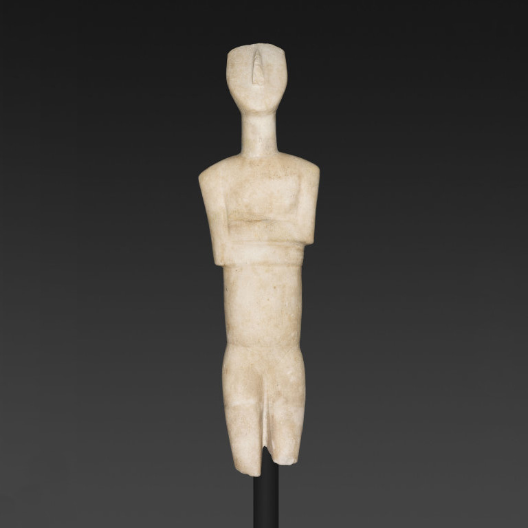 Cycladic Marble Statuette of a Female Figure from the Early Bronze Age, 2600-2400 B.C., Art Institute of Chicago