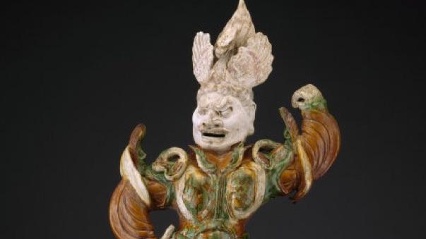 Armored Guardian King (Tianwang) Trampling Demon, China, Art Institute of Chicago