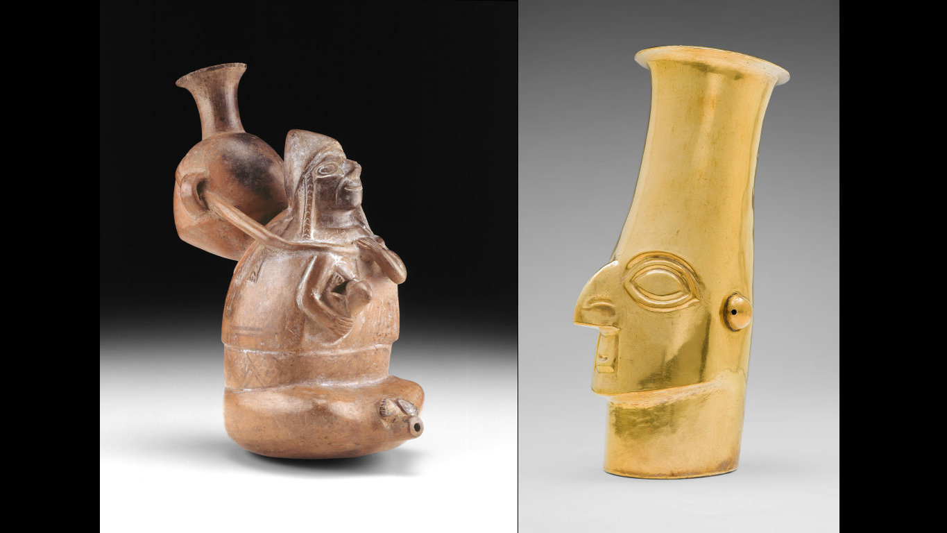 Two Peruvian ritual vessels, Art Institute of Chicago