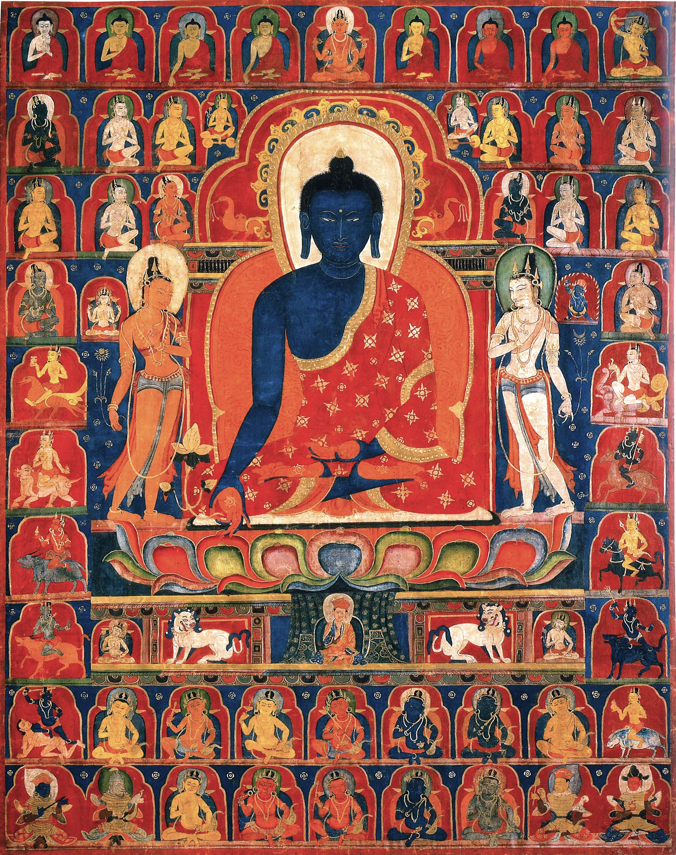 Tibetan Painted Banner of the Medicine Buddha