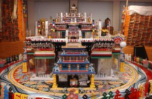 Architectural model of the Kalachakra mandala