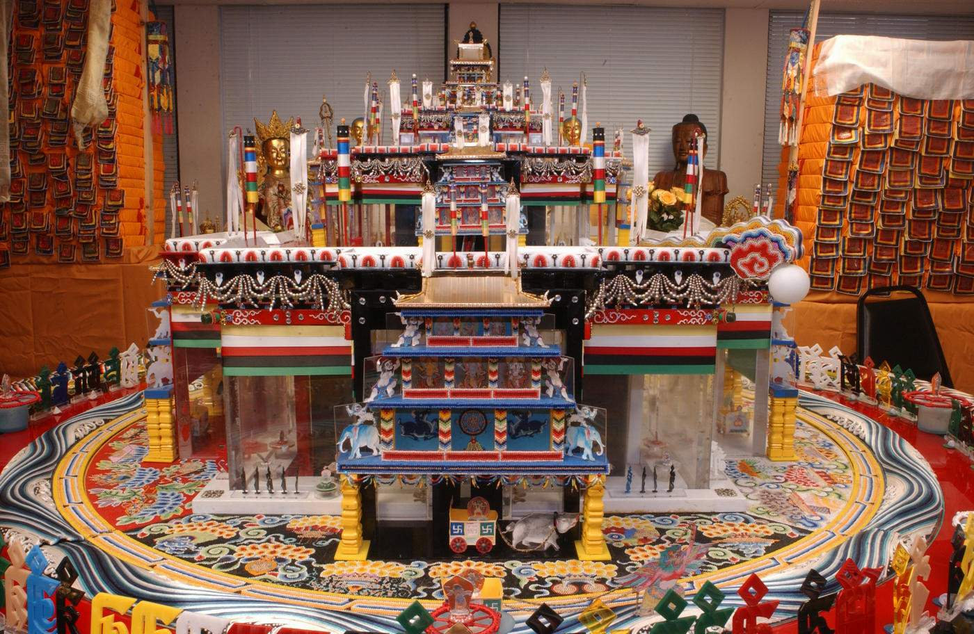 Architectural model of the Kalachakra mandala
