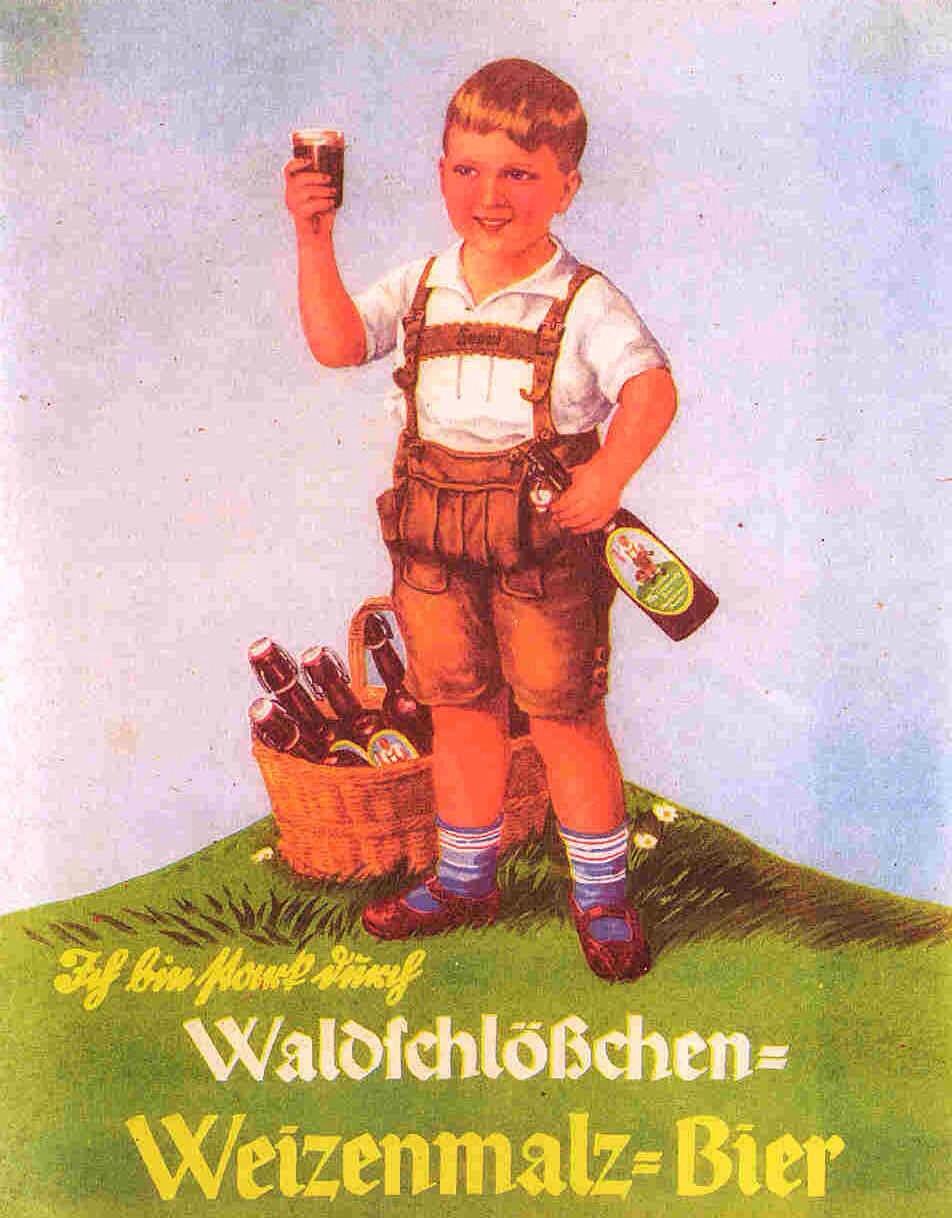 Hilarious Vintage German Beer Poster
