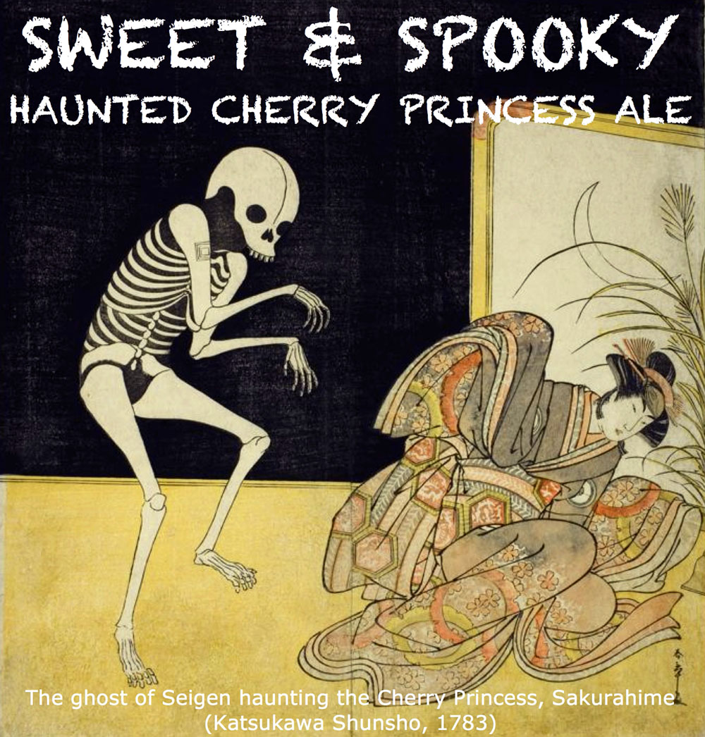 Label for Sweet & Spooky Haunted Cheery Princess Ale