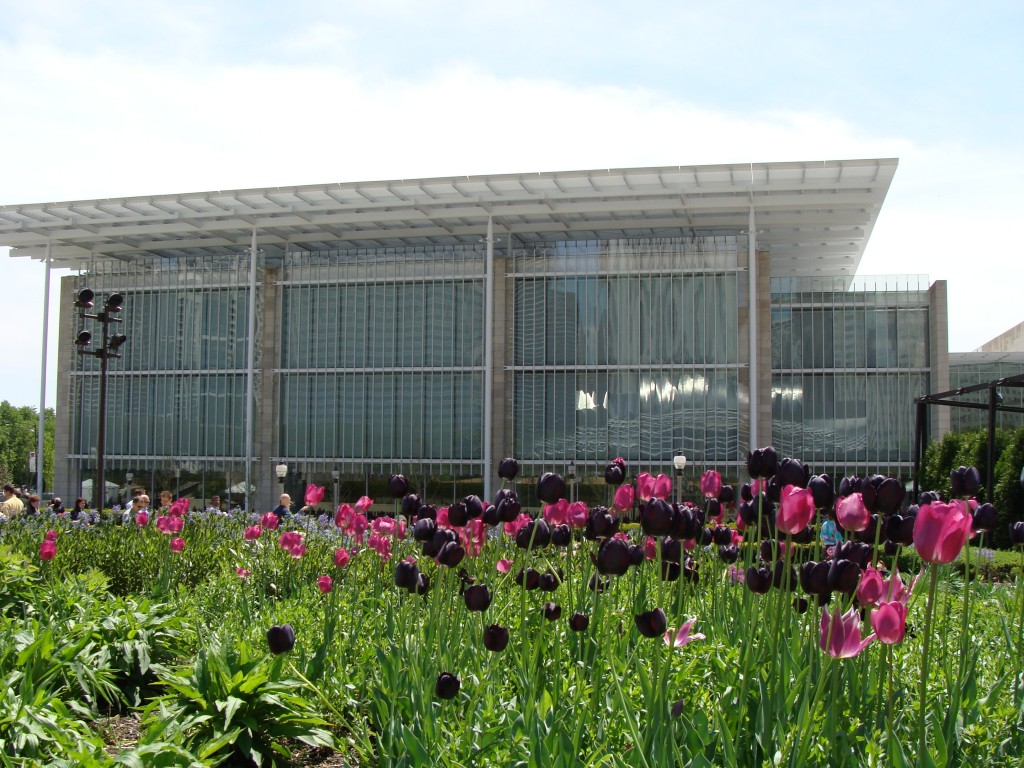 View of the Modern Wing from Lurie Garden