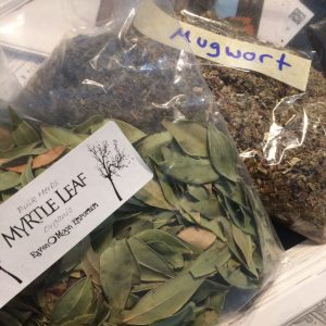 Gruit herbs - mugwort and myrtle