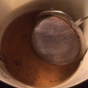 Gruit herbs make a fabulous tea after extraction from the brew kettle