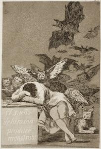 Goya's The Sleep of Reason Produces Monsters (Prado)