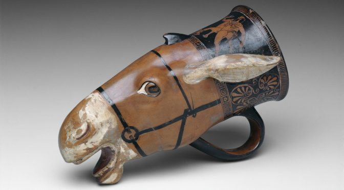 3: A Donkey-headed Rhyton