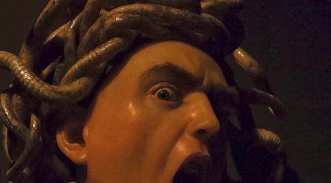 Caravaggio Medusa eye detail
