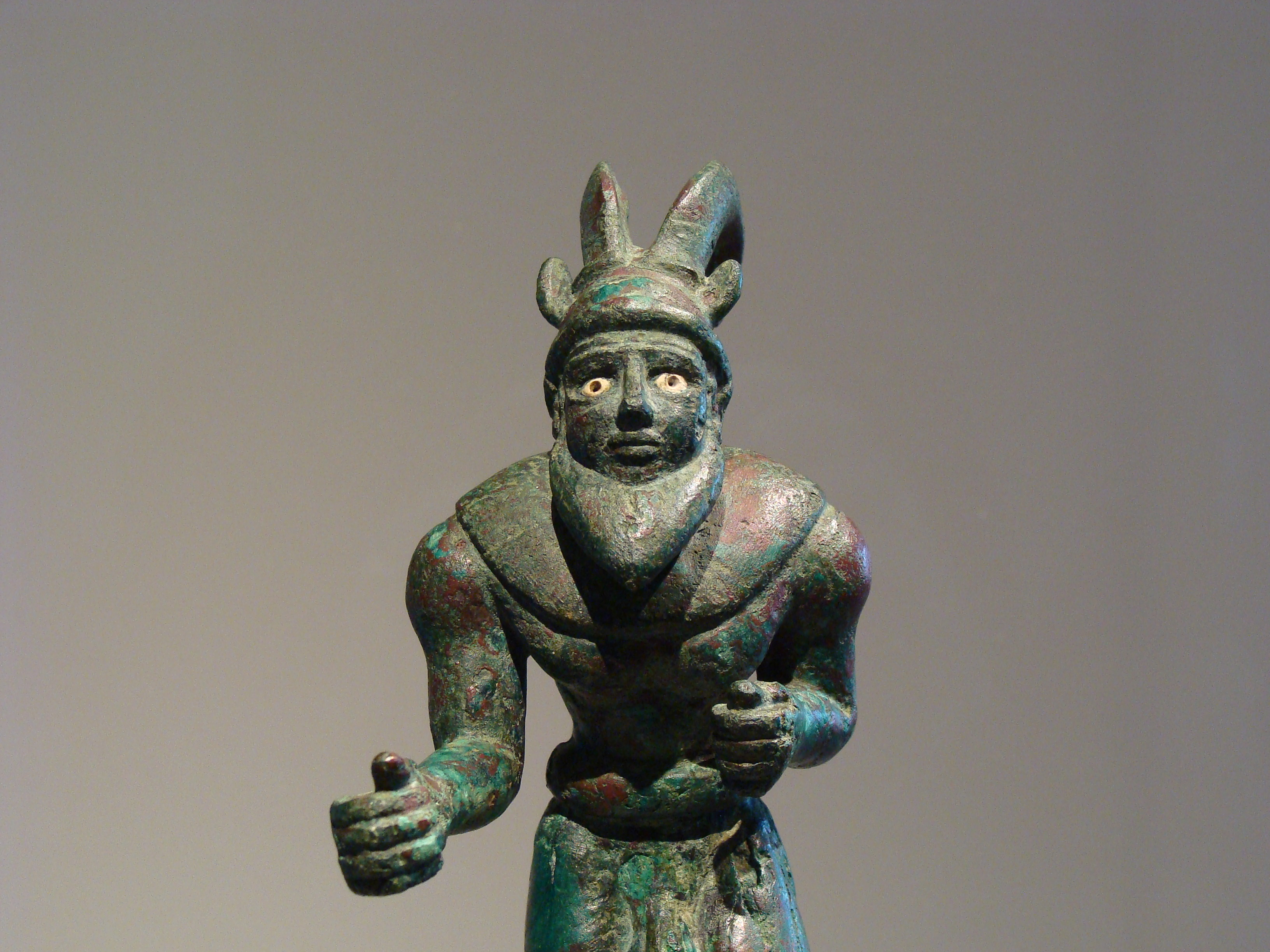 64 Striding Horned Wild Man Ancient Art Podcast