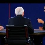 Barack Obama and Mitt Romney debate