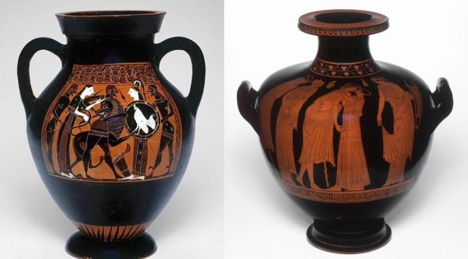 Black Figure Vs Red Figure Ancient Greek Vase Painting Techniques