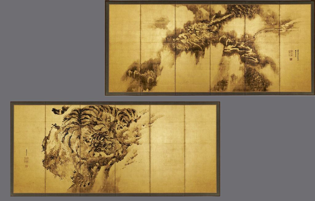 Dragon and Tiger by Kishi Ganku, 1835