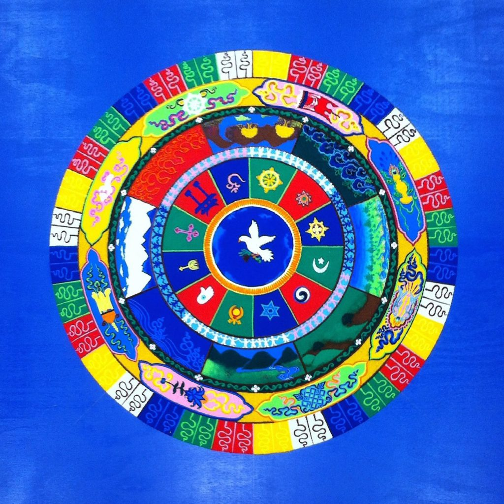 Sand Mandala of World Peace by monks from the Drepung Gomang Monastery